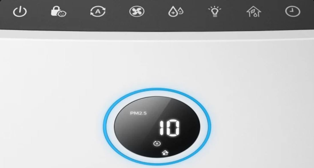 Philips AC3821 Air Purifier and Humidifier Review Display