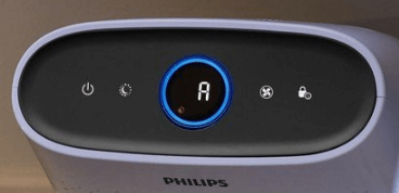 Philips AC1215 air purifier control panel