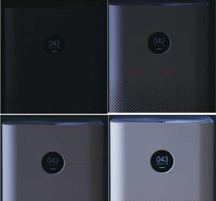 MI Air Purifier 2S OLED display
