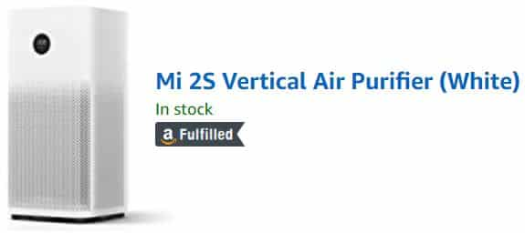 MI Air Purifier 2S Cost