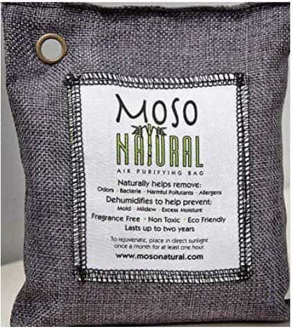 Moso Bamboo Best Activated Charcoal bag A Natural Air Purifier