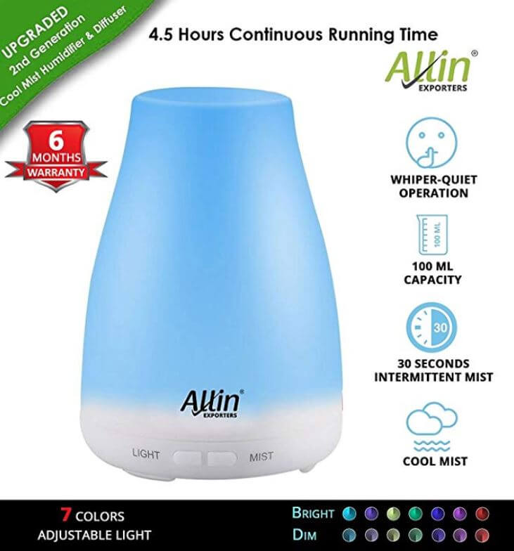 Allin 2 in 1 Best Humidifier And Aroma Diffuser In India