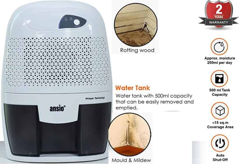 Ansio Best Dehumidifier in India For Small Spaces