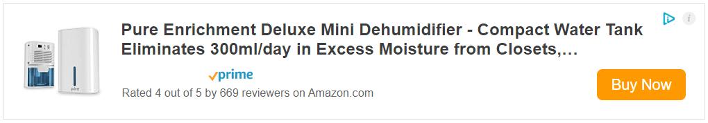 Pure Enrichment Deluxe Mini Best Dehumidifier
