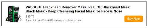 Activated charcoal for face and blackheads