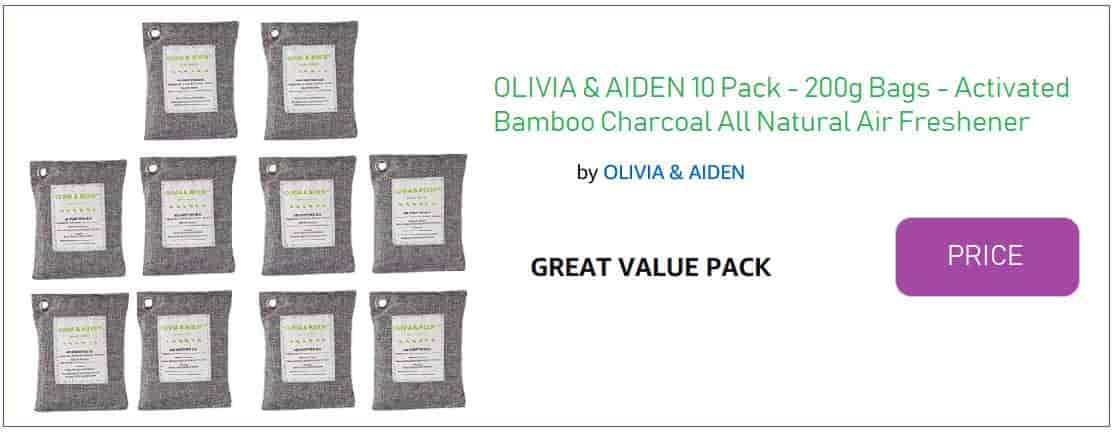 Olivia and aiden Nature Fresh Bamboo Charcoal bags