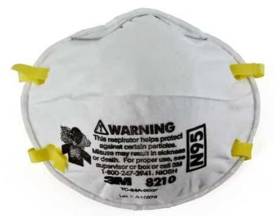 3M 8210 respirator front