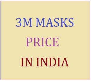 3M Mask Price in India
