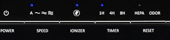 Coway AP-1012GH Control Panel