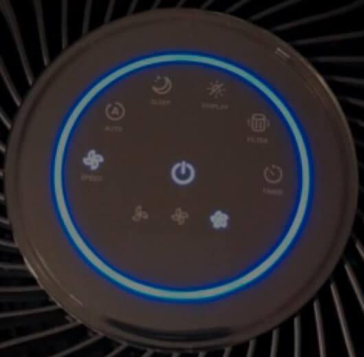 Levoit LV-H133 Review Air Purifier's Control Panel