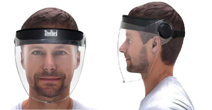 Steelbird Best Best Face Shield For Coronavirus