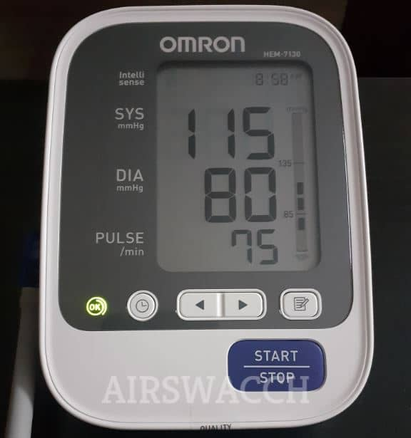 Best BP Monitor In India Omron With Pulse HEM-7130