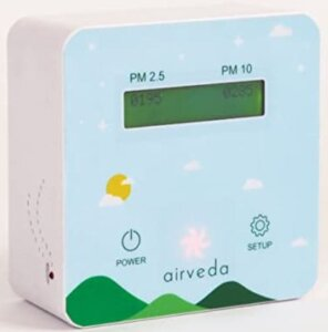 Airveda Abs Pm2.5, Pm10 App and Wi-Fi Enabled Pro Air Quality Monitor With Visual Indicator