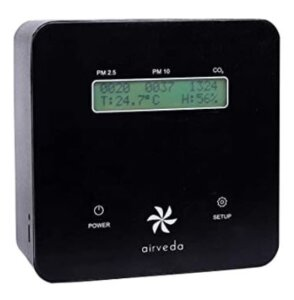 Airveda CO2, PM2.5, PM10, Temp, Humidity High Accuracy Smart Air Quality Monitor