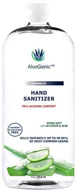 Aloegienic Best sanitizers with aloe vera and glycerin