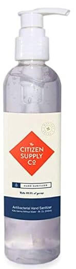 Citizen supply co Best hand sanitizer with 70 percent alcohol