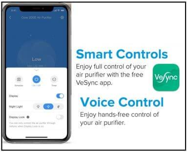 Levoit Core 200S VeSync App
