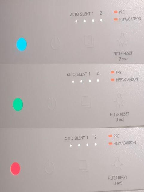 Airmega AP1019C Startup lights