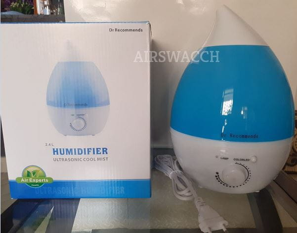 Dr Recommends Rain Drop Ultrasonic cool mist Humidifier